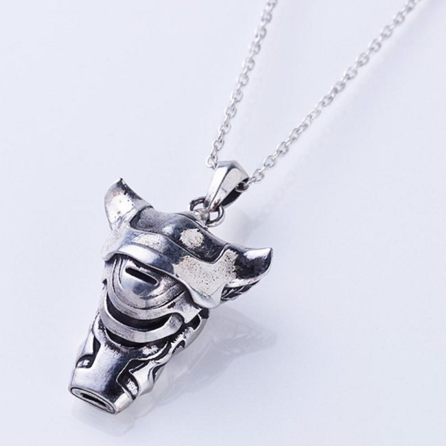 The Unmovable Sovereign - White Whistle Silver Necklace