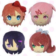 Plush Pillow Set (4-Pack): Sayori, Natsuki, Yuri & Monika