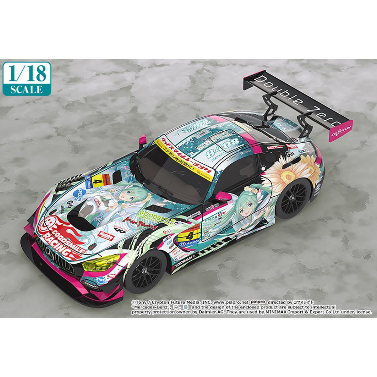 1/18th Scale Good Smile Hatsune Miku AMG 2017 SUPER GT Ver. - GSC Online Exclusive Edition