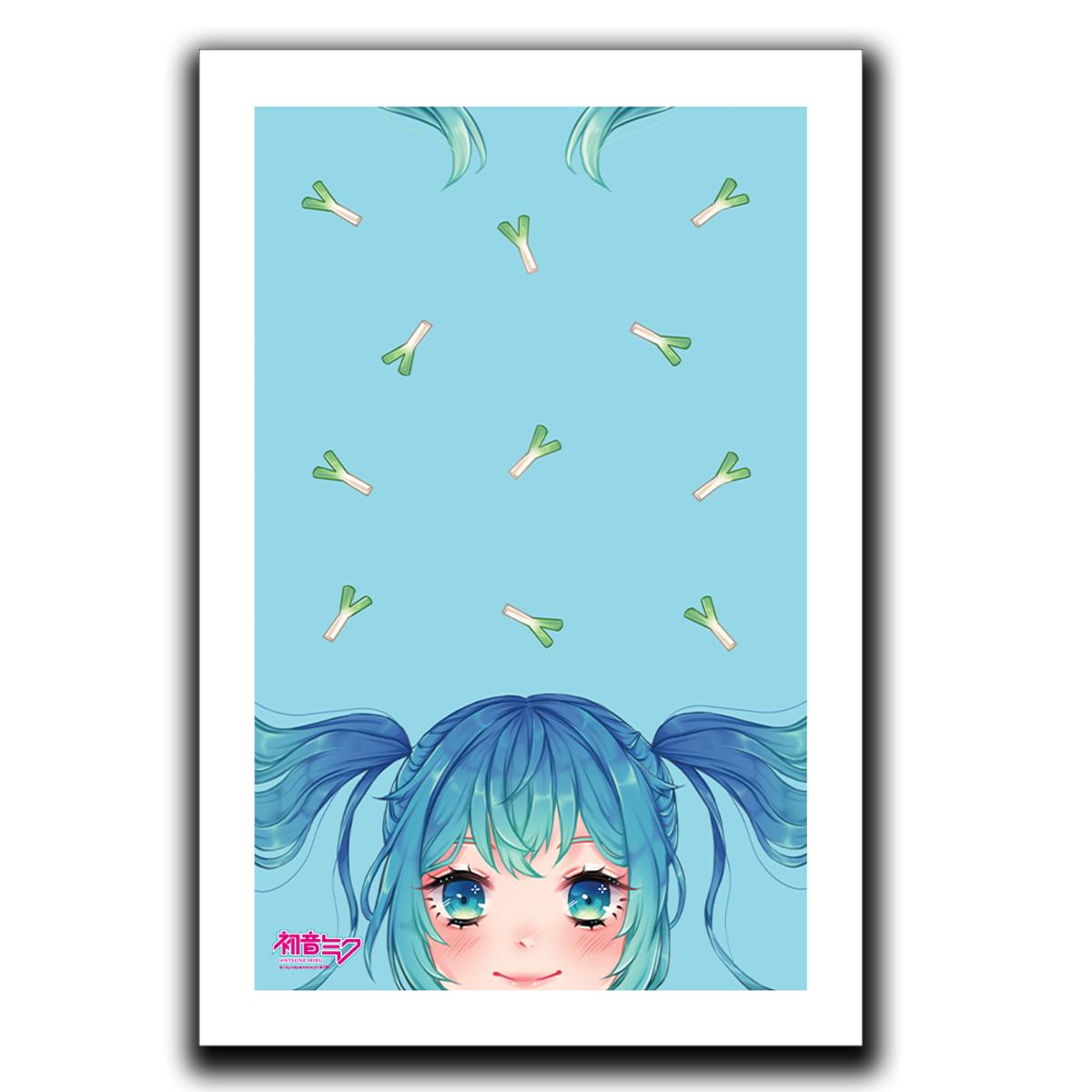 Miku and Leeks Art Print
