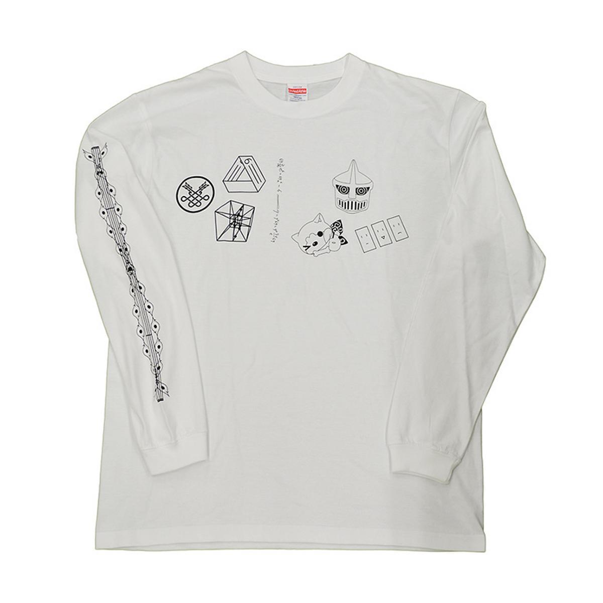 Godzilla Singular Point Formula and Tesseract Design Long T-Shirt