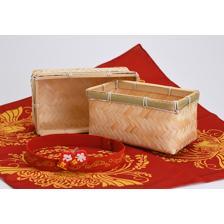 Sakuna: Of Rice and Ruin - Bamboo Wicker Lunch Box + Cloth Wrap Set
