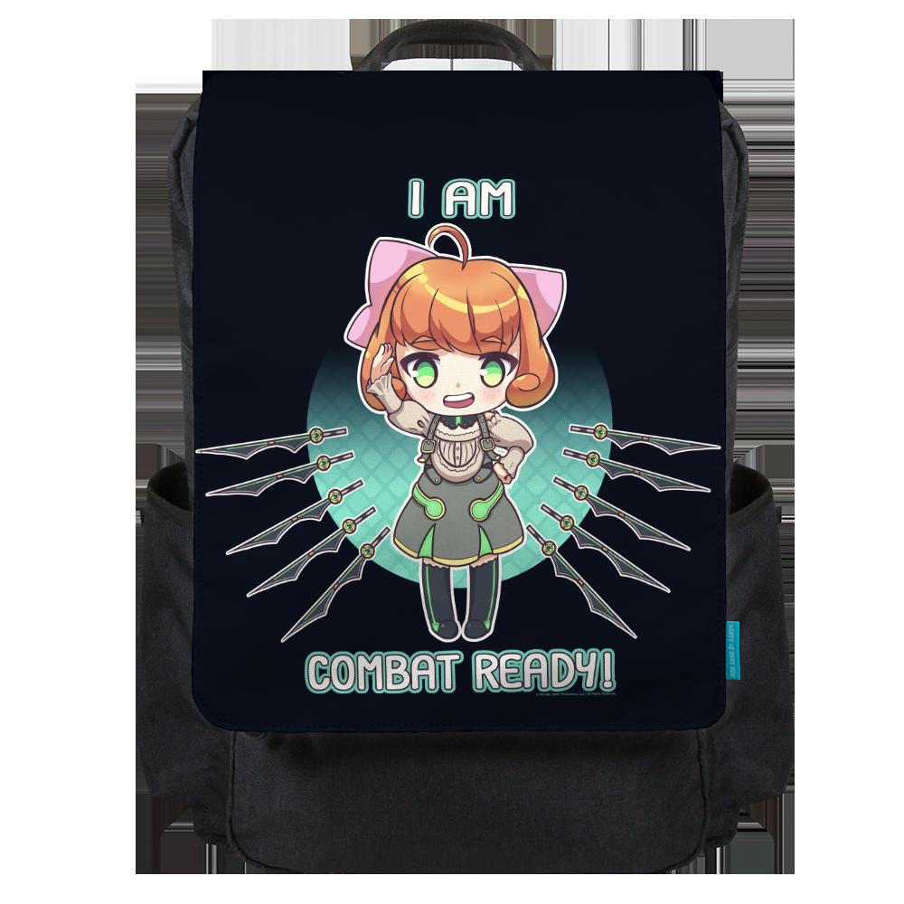 I Am Combat Ready! Backpack Flap