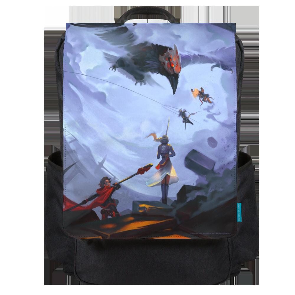 Red Like Roses Backpack Flap