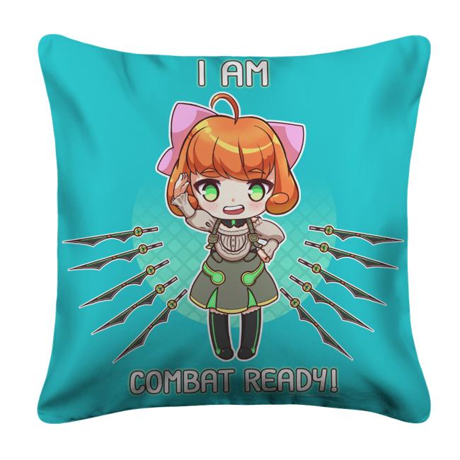 I Am Combat Ready! White Pillow Case